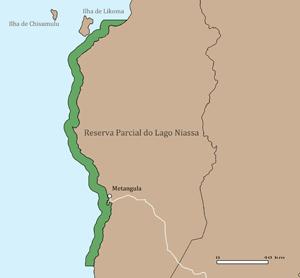 Mapa da Área de Conservação