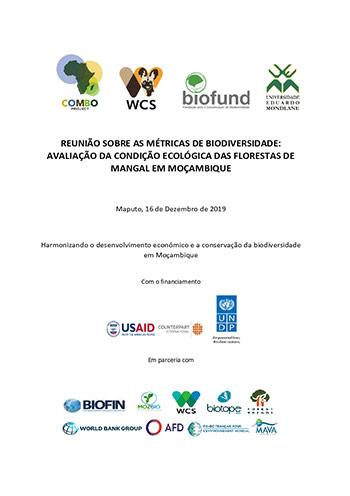 Reunião sobre as métricas de biodiversidade: avaliação da condição ecológica das florestas de mangal em moçambique