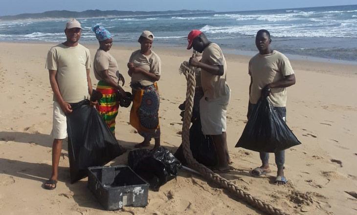 Trabalhadores comunitários da Companhia de Turismo Chemucane
